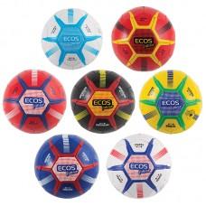 Мяч игровой ECOS Junior Размер №2 (микс дизайнов в транспортной упаковке. П/упаковка -  по 2 шт. каждого дизайна + 7шт Россия, всего - 10 дизайнов)