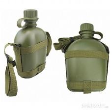 Фляга туристическая ECOS CF-45 с плечевым ремнем, 1 л