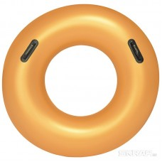 Круг для плавания с ручками Золото, 91см, Bestway 36127