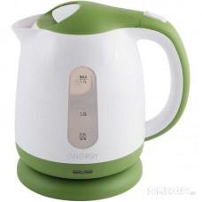 Чайник ENERGY E-293 (1.7л)  пластик, цвет бело-зеленый