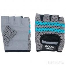 Перчатки для фитнеса, мужские, цвет -серо-голубые, размер: S, модель: SB-16-1954