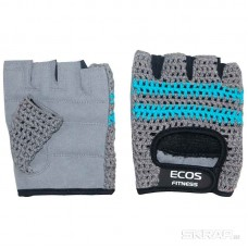 Перчатки для фитнеса, мужские, цвет -серо-голубые, размер: M, модель: SB-16-1954