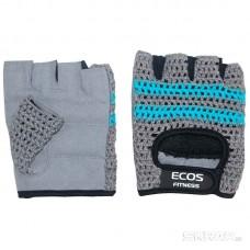 Перчатки для фитнеса, мужские, цвет -серо-голубые, размер: XL, модель: SB-16-1954