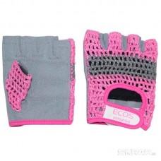 Перчатки для фитнеса, женские, цвет -розово-серые, размер: S, модель: SB-16-1954