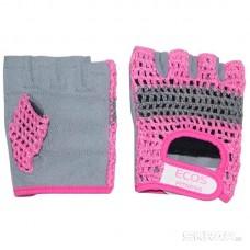 Перчатки для фитнеса, женские, цвет -розово-серые, размер: L, модель: SB-16-1954