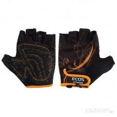 Перчатки для фитнеса, женские, цвет -черные с принтом, размер: M, модель: SB-16-1743
