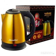 Чайник МАТРЁНА MA-002 электрический (1,8 л) стальной желтый