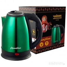 Чайник МАТРЁНА MA-002 электрический (1,8 л) стальной зеленый