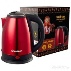 Чайник МАТРЁНА MA-002 электрический (1,8 л) стальной красный