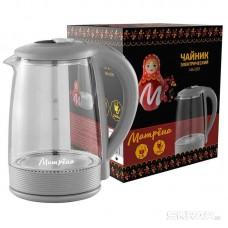 Чайник МАТРЁНА MA-009 электрический (2,0 л) стекло серый
