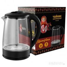 Чайник МАТРЁНА MA-009 электрический (2,0 л) стекло черный