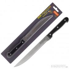 Нож с пластиковой рукояткой CLASSICO MAL-02CL разделочный большой, 19 см, т.м. Mallony