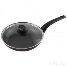Сковорода из кованого алюминия с крышкой серия STELLA, диам 22 см