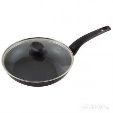 Сковорода из кованого алюминия с крышкой серия STELLA, диам 24 см