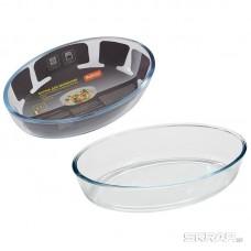 Форма для запекания из боросил стекла 0,7 л, овальной формы без ручек, серия Cristallino, тм Mallony