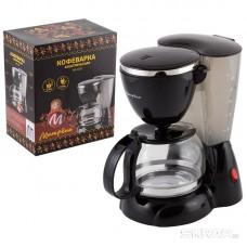 Кофеварка МАТРЁНА MA-016 черная, 550Вт, 0,6л