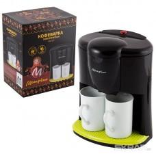 Кофеварка МАТРЁНА MA-017 черная, 450Вт, две чашки