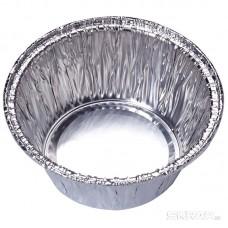 Форма для выпечки, LAMINA, размер: 7,8*7,8*3,7 см,  из алюм фольги, круглая, одноразовая_упаковка 50 шт