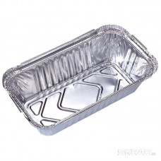 Форма для выпечки одноразовая из алюм фольги Lamina, прямоуг,  20,2*11,3*5 см_тм Mallony_упаковка 50 шт