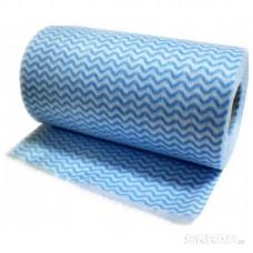 Салфетки, хозяйственные в рулоне с перфорацией 25*30 см, синяя волна, 30 шт.