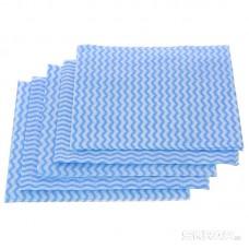 Салфетки хозяйственные 30*30см, с перфорацией, синяя волна, 5 шт.