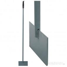 Ледоруб-скребок с метал. черенком, пласт. ручка (АИ)