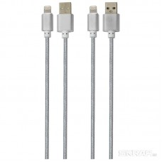 Кабель Energy ET-01 USB/Lightning, цвет - серебро