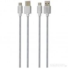 Кабель Energy ET-01 USB/Type-C, цвет - серебро