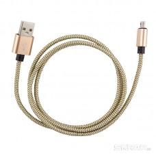 Кабель Energy ET-02 USB/MicroUSB, цвет - золотой