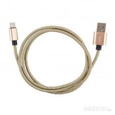 Кабель Energy ET-02 USB/Type-C, цвет - золотой