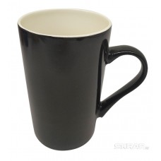 Кружка керамическая окрашенная, цвет - черный, объем 420 мл, серия Modello