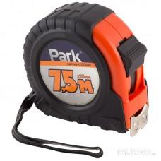 Рулетка Park с фиксатором, прорезиненный корпус, магнитный зацеп, 7,5м*25мм TM38-7525