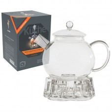 Чайник заварочный на подставке AROMA, объем:1000 мл (боросиликатное стекло, фильтр из нерж.стали)