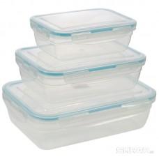Набор контейнеров пищевых с защёлками REGOLA, 3 шт (0,70 / 1,20 / 2л)