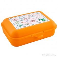Ланч-бокс (бутербродница) 19*13 см оранжевый