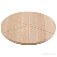 Доска разделочная для пиццы, бук 32х1,5см. 6 кусков