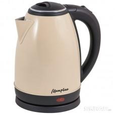 Чайник МАТРЁНА MA-002 электрический (1,8 л) стальной бежевый