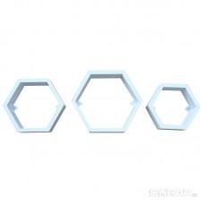 Набор полок-соты CH6085,  3 шт, цвет - белый