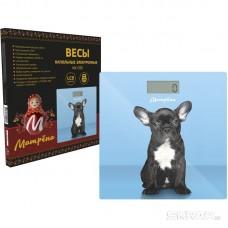 Весы напольные электронные МАТРЁНА МА-090 собака  (стеклянная поверхность, 180 кг)