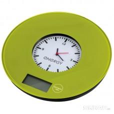 Весы кухонные электронные ENERGY EN-427, 7 кг, зеленые с часами