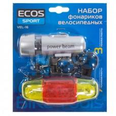 Набор фонариков велосипедных Ecos VEL-16
