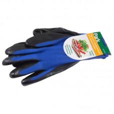 Перчатки хозяйственные PARK EL-N126, размер 9 (L), нитрил + полиэстер, цвет синий с черным