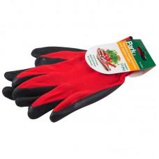 Перчатки хозяйственные PARK EL-C3032, размер 10 (XL), латекс+полиэстер, цв. Красный с серым
