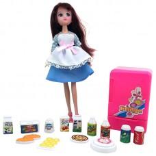 Игрушка набор: кукла + холодильник + продукты Krutti  DS02-1