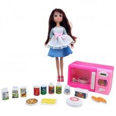 Игрушка набор: кукла + микроволновая печка + продукты Krutti DS02-2