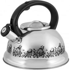 Чайник из нержавеющей стали с рисунком, меняющим цвет Mallony MAL-0417A (3,0 литра, со свистком, капсульное дно)