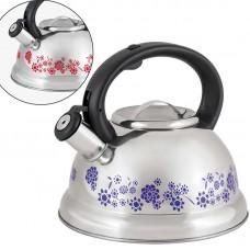 Чайник из нержавеющей стали с рисунком, меняющим цвет Mallony MAL-0417B (3,0 литра, со свистком, капсульное дно)