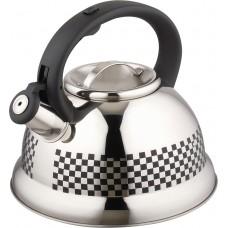 Чайник из нержавеющей стали с рисунком, меняющим цвет Mallony MAL-0417С (3,0 литра, со свистком, капсульное дно)