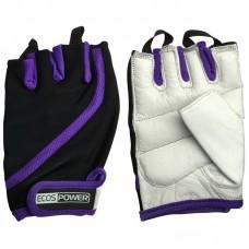 Перчатки для фитнеса 2311-VL, цвет: фиол+черный+белый, размер: L