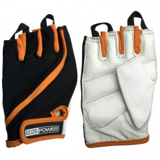 Перчатки для фитнеса 2311-OL, цвет: оранж+черный+белый, размер: L